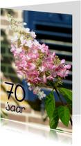 Verjaardagskaarten - Verjaardagskaart Hortensia 70 jaar