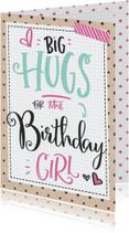 Verjaardagskaarten - Verjaardagskaart Hugs