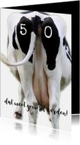 Verjaardagskaarten - Verjaardagskaart koe