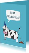 Verjaardagskaarten - Verjaardagskaart Koeienvla(ai)!
