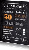 Uitnodigingen - Verjaardagskaart krijt - DH