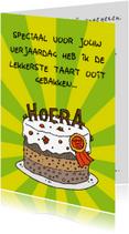 Verjaardagskaarten - Verjaardagskaart lekkerste taart