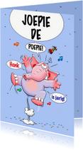Verjaardagskaarten - Verjaardagskaart met grappige olifant voor de jarige