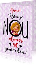 Verjaardagskaarten - Verjaardagskaart met tekst en kopje van een leuke vrouw