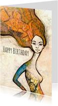 Verjaardagskaarten - Verjaardagskaart Mooie vrouw