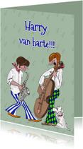 Verjaardagskaarten - Verjaardagskaart muzikanten