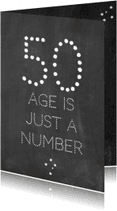 Verjaardagskaarten - Verjaardagskaart Number