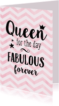 Verjaardagskaarten - Verjaardagskaart Queen