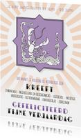 Verjaardagskaarten - Verjaardagskaart sterrenbeeld Kreeft