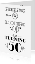 Verjaardagskaarten - Verjaardagskaart turning 50