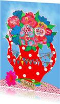 Verjaardagskaarten - Verjaardagskaart Vlag PA