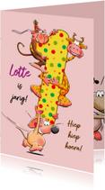 Verjaardagskaarten - Verjaardagskaart voor meisje van 1 jaar - HE