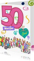 Verjaardagskaarten - Verjaardagskaart vrouw 50 - HE