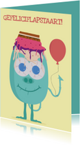 Verjaardagskaarten - Verjaardagskaartje Feestvarken!
