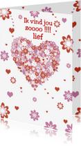 Liefde kaarten - Vind jou zooooo lief