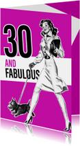 Verjaardagskaarten - Vintage 30 vrouw