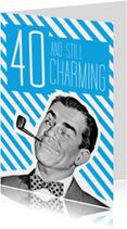 Verjaardagskaarten - Vintage 40 jaar