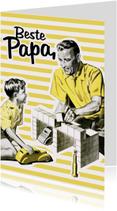 Vaderdag kaarten - Vintage Beste Papa