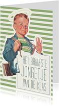 Geslaagd kaarten - Vintage braafste jongetje