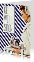 Beterschapskaarten - Vintage get well soon