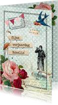 Verjaardagskaarten - Vintage Verjaardagskaart