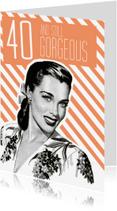 Verjaardagskaarten - Vintage vrouw 40