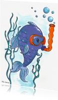 Geslaagd kaarten - Vis aan het snorkelen