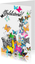 Felicitatiekaarten - Vlinders felicitatie
