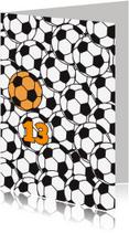 Verjaardagskaarten - Voetballen met oranje bal
