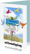 Uitnodigingen - Vogeltjes - Uitnodiging