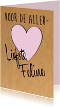 Liefde kaarten - Voor de allerliefste, eigen naam