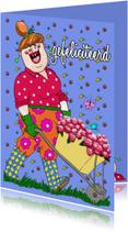 Verjaardagskaarten - Voor de jarige een bloemetje