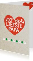 Vaderdag kaarten - voor de liefste papa -BF