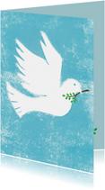 Religie kaarten - Vredes duif blauw