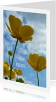 Vriendschap kaarten - vriendschap boterbloem