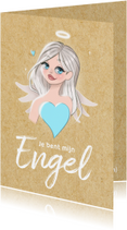 Vriendschap kaarten - Vriendschapskaart - Je bent mijn Engel