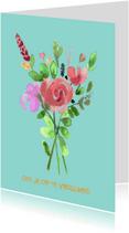 Beterschapskaarten - Vrolijke beterschap bloemen om je op te vrolijken