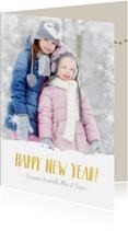 Kerstkaarten - Vrolijke en hippe kerstkaart met eigen foto en sneeuw rand