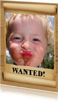 Kinderkaarten - Wanted Poster eigen foto