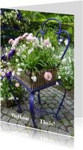 Welkom thuis kaarten - Welkom stoel vol bloemen