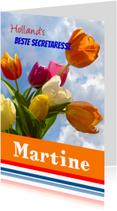 Felicitatiekaarten - Wenskaart Zeg het met tulpen