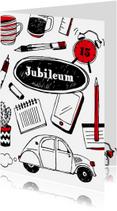 Jubileumkaarten - Werkjubileum felicitatie of uitnodiging