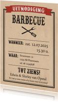 Uitnodigingen - Western barbecue-isf