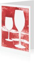 Uitnodigingen - Wijnkaart rood