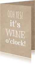 Uitnodigingen - wine o'clock uitnodiging