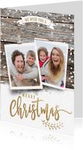 Kerstkaarten - Winterse kerstkaart 2 fotos