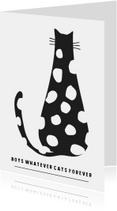 Woonkaarten - Woonkaart 'cats forever'