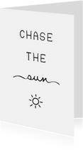 Woonkaarten - Woonkaart 'Chase the sun' met zonnetje