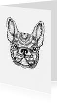 Woonkaarten - Woonkaart Dog handgetekend