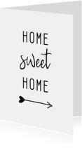 Woonkaarten - Woonkaart 'Home sweet home' met pijl